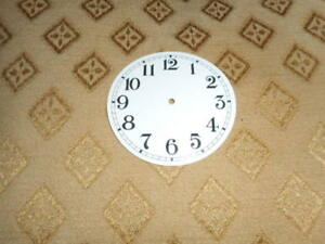 """Round Paper Clock Dial-2 3/4"""" M/T-Arabic- GLOSS WHITE-Face/ Clock Parts/ Spares"""