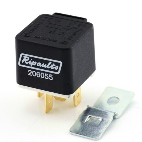 Pack 2 24v 5 Pin Mini Changeover Relay 10//20A With Detachable Bracket
