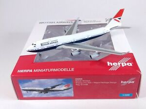 BRITISH AIRWAYS Negus Boeing 747-400 G-CIVB Aircraft Model 1:500 Scale Herpa
