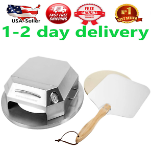Universal Stainless Steel Pizza Oven Kit Charcoal Kettle Grilll Baking Tools