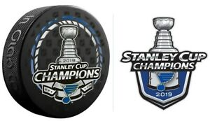 2019-STANLEY-CUP-CHAMPIONS-PUCK-amp-ST-LOUIS-BLUES-STICKER-SEE-STORE-PATCH-PINS