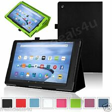 NEW LEATHER CASE COVER FOR AMAZON KINDLE FIRE 7, FIRE HD 8 2017, FIRE HD 8 2018