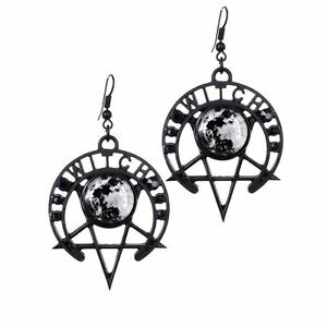 Restyle-Witch-Moon-Pentagram-Star-Symbol-Black-Occult-Witch-Earrings