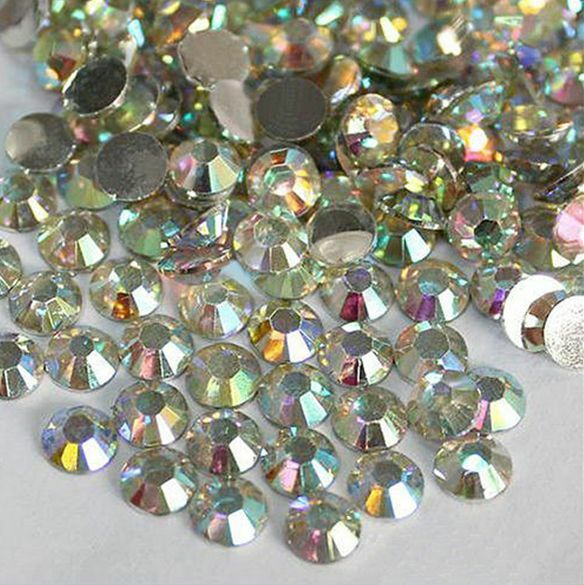 Nail Art Flatback Crystal 14 Facets Resin Round Rhinestone Beads 1000Pcs 4mm