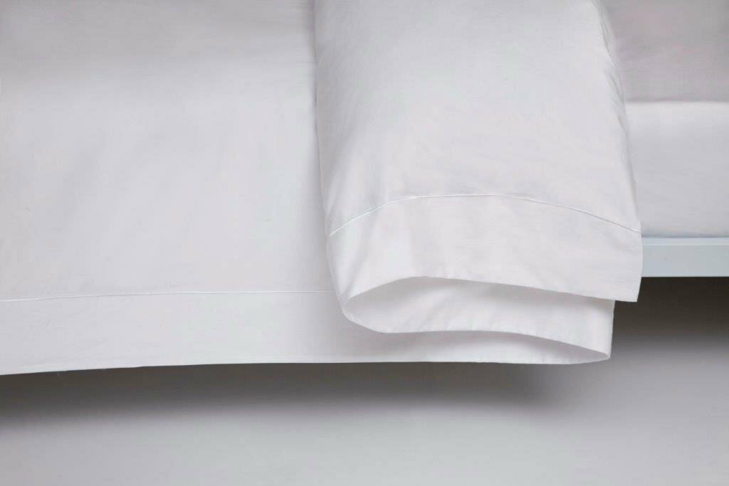 400 Thread Count Single Ply Egyptian Cotton Duvet Cover King Bed Größe in Weiß