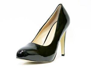 Damas Para mujeres Zapatos De Taco Alto Court Shoe/Oficina/Formal Zapatos-Negro-UK Size 8