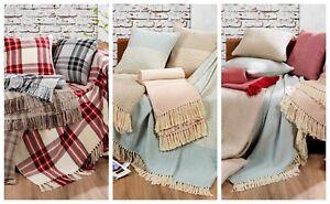 Literie-Ciel-100-Royal-Highland-coton-Plaids-et-housses-de-coussin