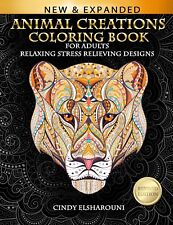 Adult Coloring Book : Stress Relieving Designs Animals, Mandalas, Flowers, Paisley Patterns and So Much More : Coloring Book for Adults by Cindy Elsharouni (2017, Paperback)