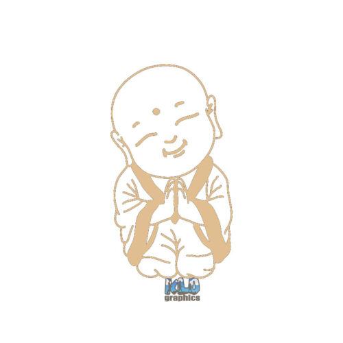BUDDHA SMILING Vinyl Decal Sticker Guatama BUDDHIST Siddhārtha Yin Yang