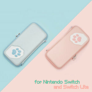 Cute-Cat-Paw-Carrying-Case-Pouch-Bag-for-Nintendo-Switch-and-Switch-Lite