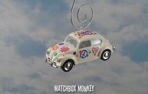 Details About 67 Vw Bug Flower Love Peace Hippie Volkswagen Beetle Christmas Ornament