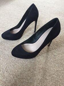 ASOS 4 37 Black Suede Stiletto Court Heels WORN ONCE