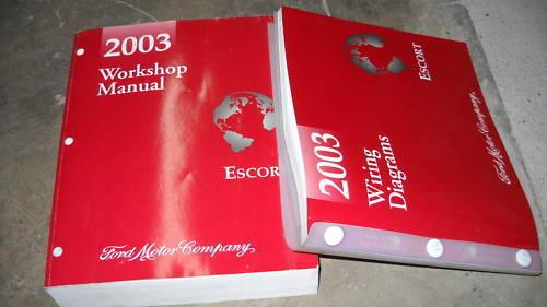 2003 FORD ESCORT Service Repair Shop Manual Set 03 OEM W Wiring Diagram