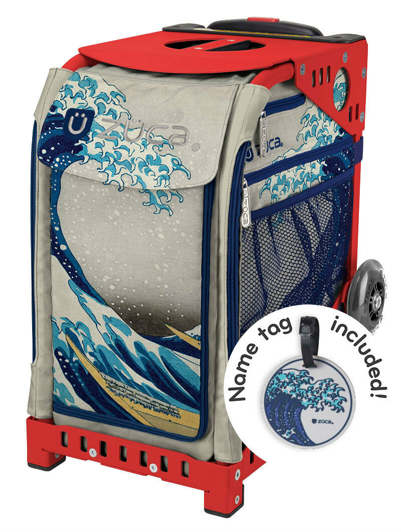 ZUCA Bag GREAT WAVE Insert & Red Frame w Flashing Wheels - FREE SEAT CUSHION
