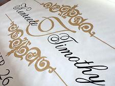 Aisle Runner Wedding Monogram Isle Ceremony Decoration Ivory Fabric Handmade