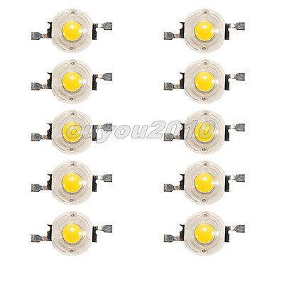 10pcs 1W 1Watt High Power Warm White 3500K Light LED Beads Lamp 80~110LM DIY
