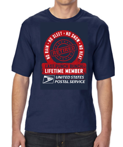 Details about  /USPS POSTAL POST OFFICE RETIRED LAST PUNCH BUNCH LIFETIME MEMBER T-SHIRT