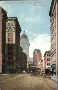 San-Francisco-CA-North-on-Third-c1910-Postcard