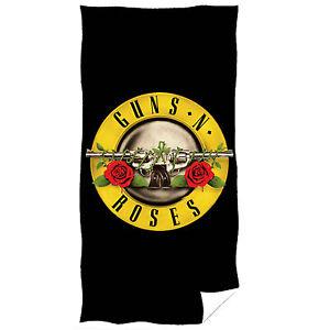 Uni Guns N Roses Hard Rock Frottana 70x140 Serviette Serviette Plage Draps Saune-afficher Le Titre D'origine Sans Retour