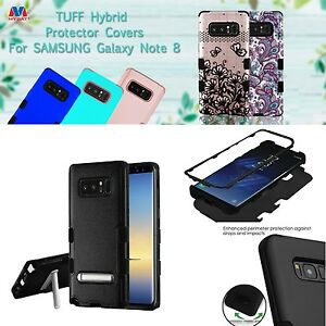 For-New-Samsung-Galaxy-Note-8-Phone-Cover-With-Kickstand-3-Layer-Shockproof-Case