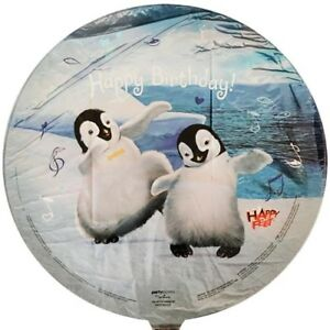 Image Is Loading HAPPY FEET FOIL MYLAR BALLOON Birthday Party Supplies