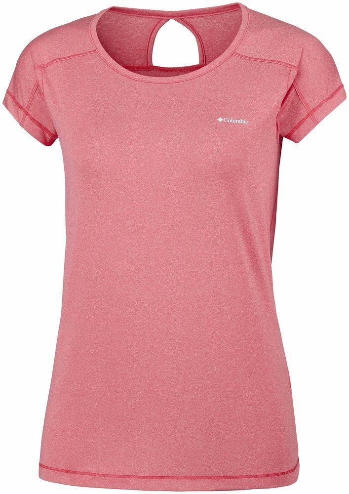 COLUMBIA Peak To Point AK1970692 Running T-Shirt Short Sleeve Tee Womens New