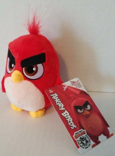 Angry Birds 4 Inch Soft Plush Bird Bomb Black Red Chuck Doll 3 Toy Pet Stuffed