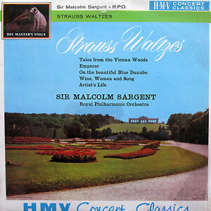 XLP-20041-Strauss-Waltzes-Sir-Malcolm-Sargent-NM-EX-HMV-Mono-in-shrinkwrap