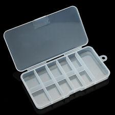 1 pcs Nail Art Acrylic Plastic Empty Compartment Storage Box Y089-1