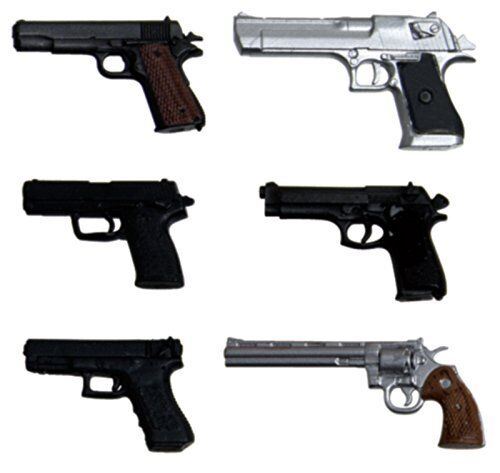 Japan Import six 1//12 realistic weapon series realistic unpainted handgun