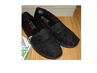 Nwb Black Bobs By Skechers Dream Catcher Shoes W/memory Foam Insoles Sz 6.5