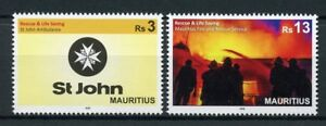 Mauritius-2018-MNH-Fire-Rescue-amp-Life-Saving-St-John-Ambulance-2v-Medical-Stamps