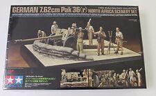 Tamiya  German 7.62cm Pak 36(r) w/8 Crew North Africa Diorama Set 1/35 32408 ST