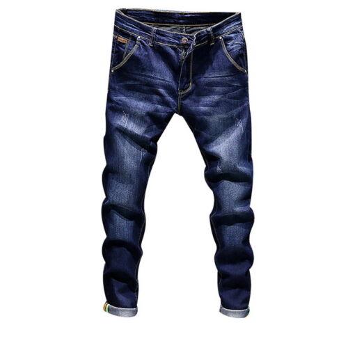PD Vintage Herren Jeans Slim Fit Denim Straight Jeans Hose Lang Casual 2018