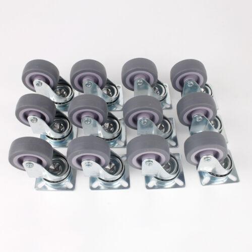 12er Lenkrollen 50mm Set Transportrollen Industrierolle Schwerlastrolle