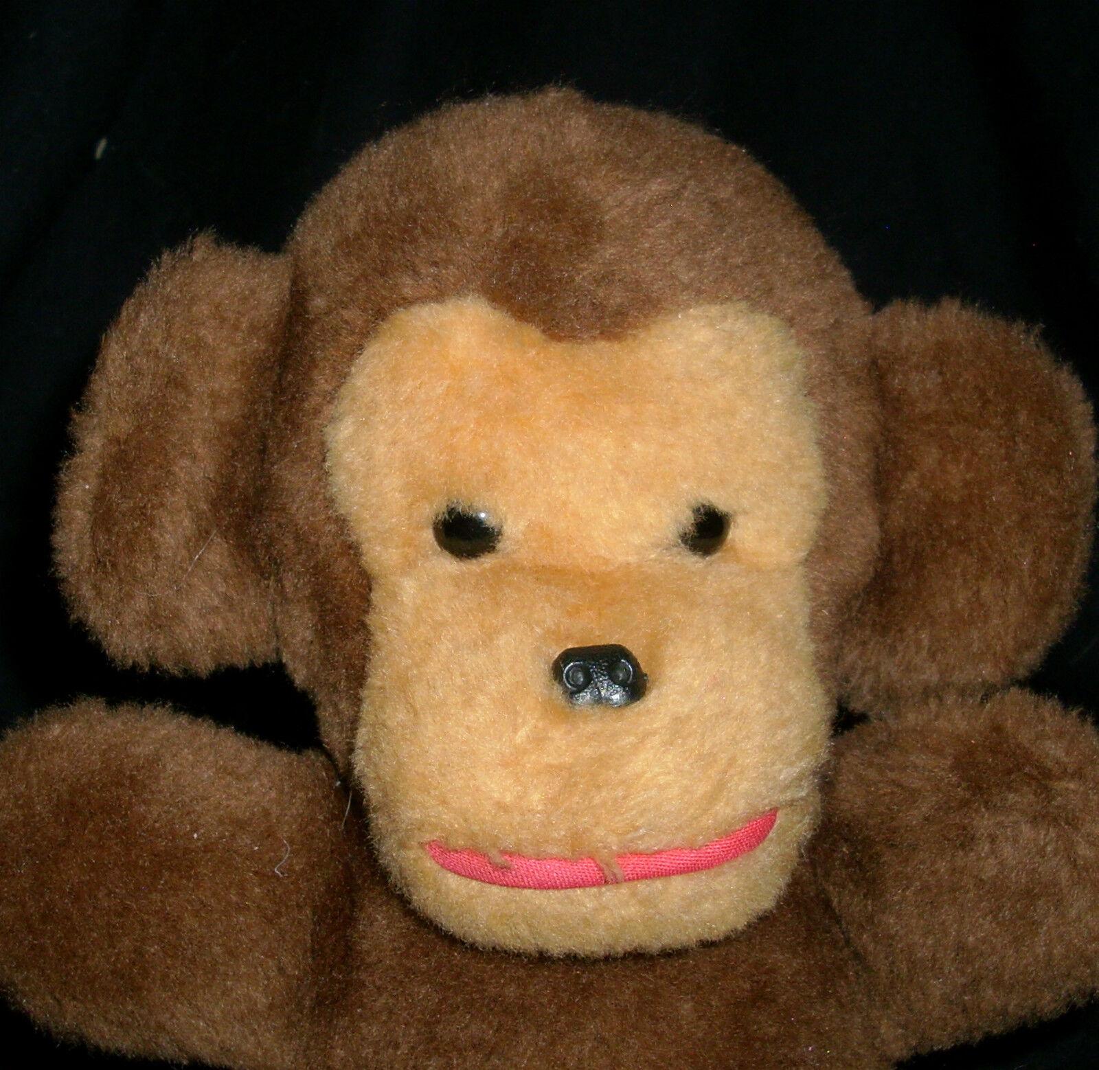 17.8cm Vintage 1979 Gund Hellbraun Baby Baby Baby Affe mit   Rassel Plüschtier Spielzeug 0e215f