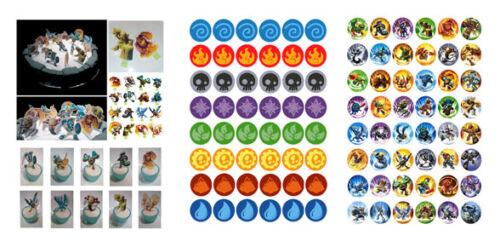 Elements Toppers Diy Skylanders x16 Stand ups Fairy CupCake DiY /& 48 Skylanders