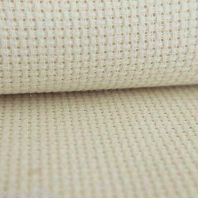 14 cuenta Aida Crema 50 cm X 45 cm cuarto Gordo 100/% algodón