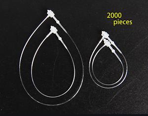 SBYURE 2000pc Plastic Tag Fastener Hang Tag Snap Lock Pin Security Loop for Reta
