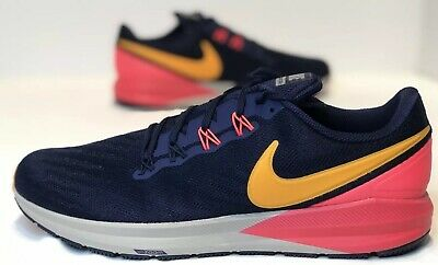 Nike Air Zoom Structure 22 Blackened Blue Orange Shoes Best Price AA1636 400