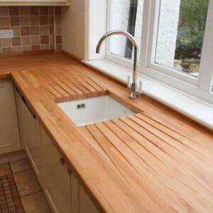 Wooden Kitchen Worktops Ebay