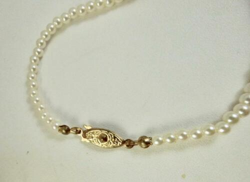 """4-8mm Graduated Imitation Pearl Strung Strand Necklace Length Choice 16/"""",18/"""""""