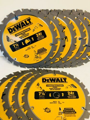 "10 PACK 7 1//4/"" DW3178B10 Framing Saw Carbide Circular Saw Blade DeWalt"
