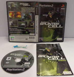 Console-Gioco-Game-SONY-Playstation-2-PS2-PAL-ITA-TOM-CLANCY-039-S-SPLINTER-CELL-1-S