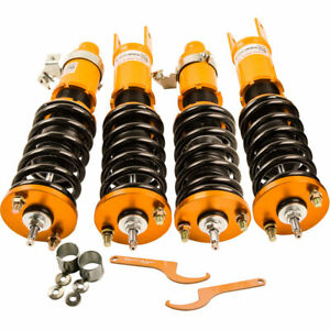 Details about Adj Damper Coilover Suspension struts for Honda Civic EK EJ  EM 96-00 Front Rear