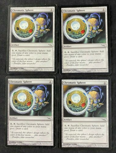 MTG Magic The Gathering Chromatic Sphere Mirrodin Playset of 4 Cards HP