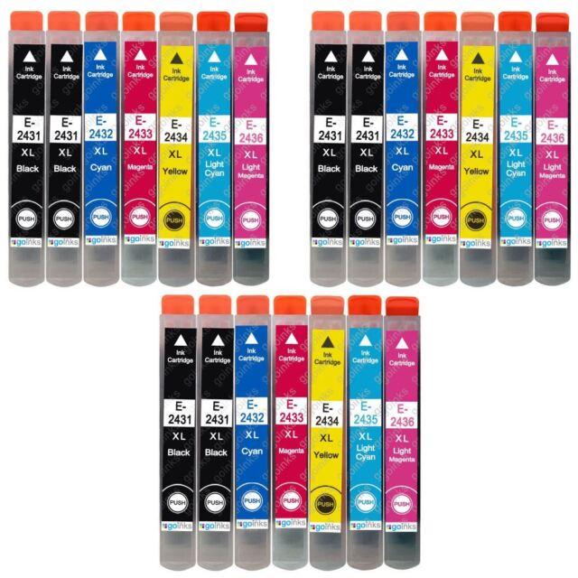 21 Cartucho de tinta para Epson Expression Photo XP-55 XP-760 XP-860 XP-960