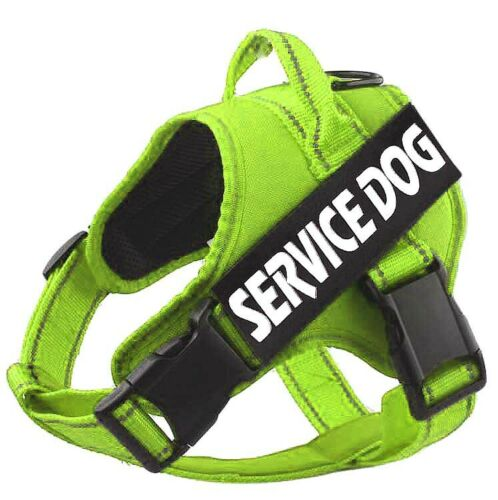 Service Dog Reflective Harness Adjustable Puppy Pet No Pull Vest /& Patches
