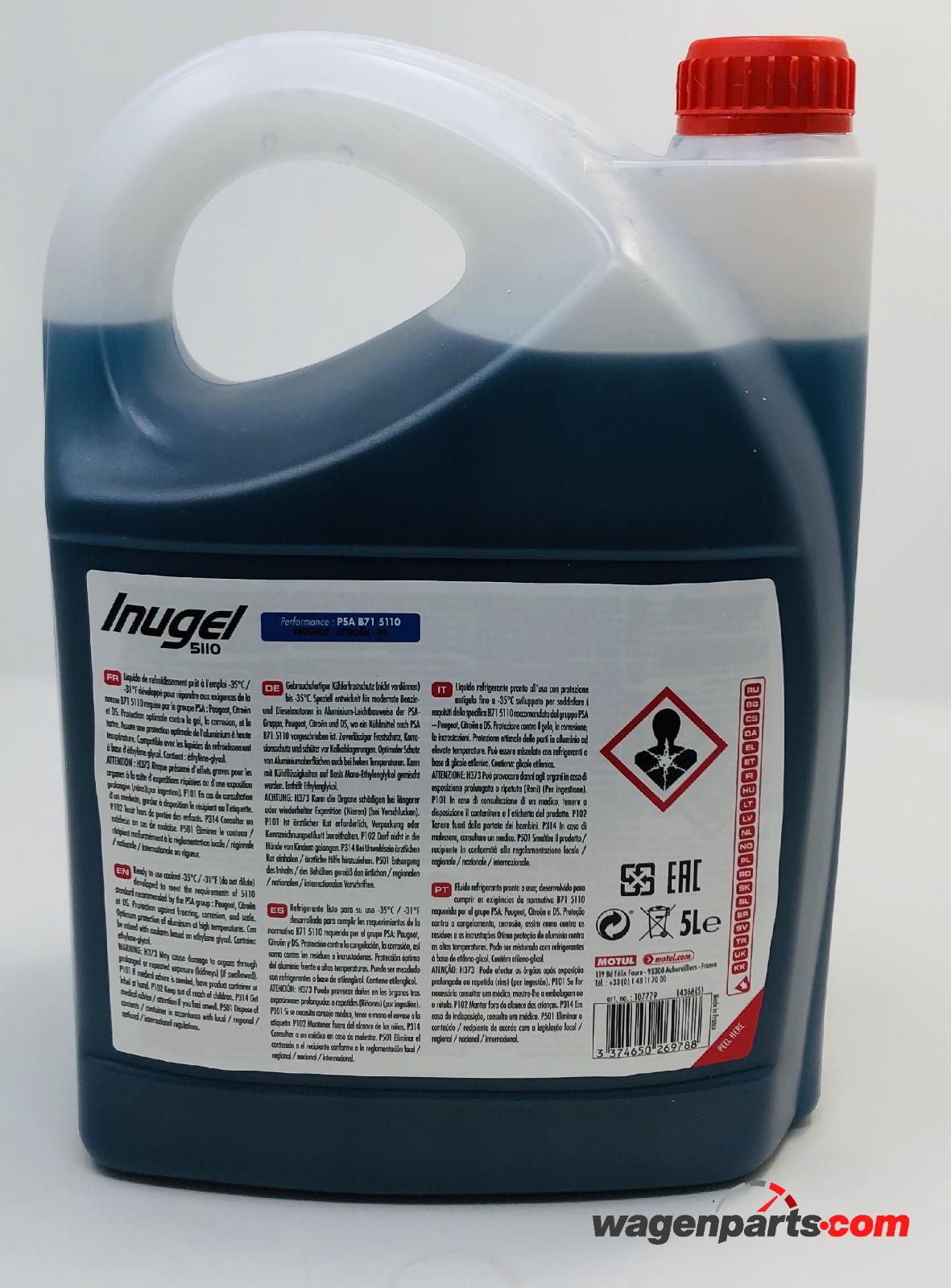 s l1600 - Anticongelante Refrigerante Peugeot Citröen MOTUL Inugel 5110 -35°C, Pack 20 Lts