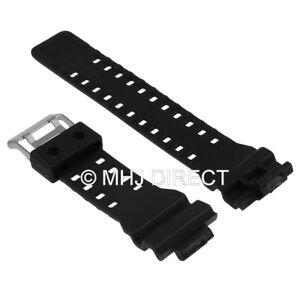 Black-Rubber-Replacement-Watch-Strap-for-Casio-G-Shock-GA100-GA200-Twin-Buckle
